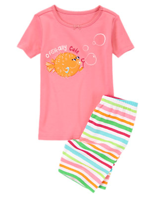 Toddler Girls Coral Puffer Fish Shortie Two-Piece Gymmies® by Gymboree