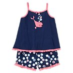 Hearts Whale Two-Piece Pajama Set