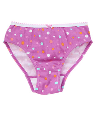 Toddler Girls Violet Dots Purple Dot Panty by Gymboree