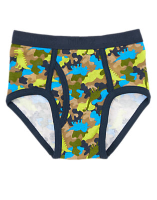 Toddler Boys Dark Indigo Camo Dino Camo Briefs by Gymboree