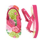 Flower Gem Flip Flops