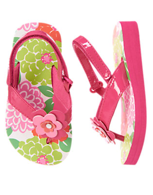Toddler Girls Island Bouquet Flower Gem Flip Flops by Gymboree