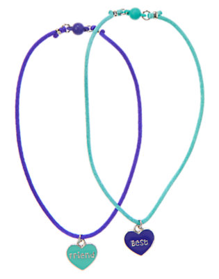 Girls Sapphire Best Friends Necklace Two-Pack by Gymboree