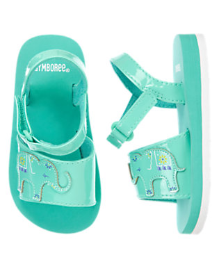 Toddler Girls Turquoise Elephant Sandals by Gymboree