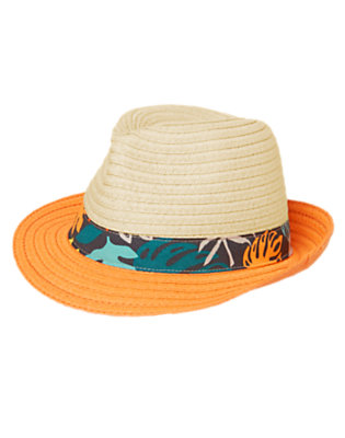 Toddler Boys Volcano Orange Tropical Band Fedora by Gymboree