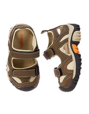 Toddler Boys Khaki Closed Toe Sport Sandals by Gymboree