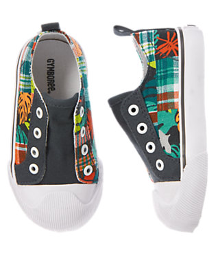 Toddler Boys Island Print Tropical Slip-On Sneakers by Gymboree