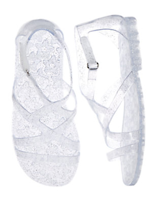Girls Clear Sparkle Glitter Jelly Sandals by Gymboree