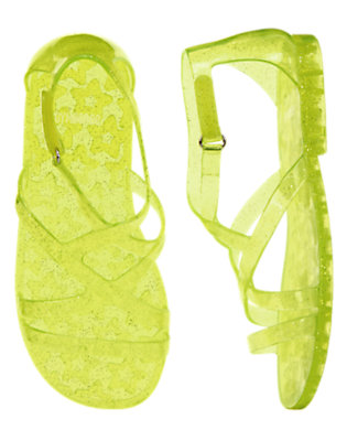 Girls Limeade Sparkle Glitter Jelly Sandals by Gymboree