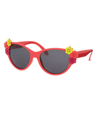 Girls Poppy Pink Flower Sunglasses by Gymboree