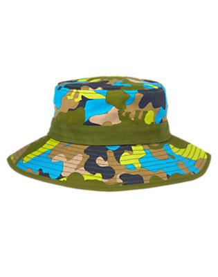Toddler Boys Dino Green Camo Dino Camo Bucket Hat by Gymboree