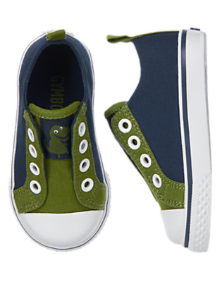 Toddler Boys Dino Green Dino Laceless Sneakers by Gymboree