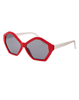 Girls Red Beret Geo Frame Sunglasses by Gymboree
