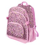Leopard and Heart Print Backpack