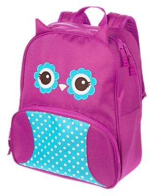 Girls Wise Violet Owl Junior Backpack by Gymboree