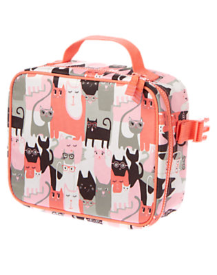 Girls Orange Meow Kitty Lunchbox by Gymboree