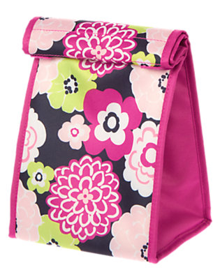 Girls Bright Fuchsia Floral Lunchsack by Gymboree