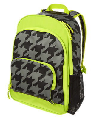 Boys Houndstooth Print Houndstooth Backpack by Gymboree