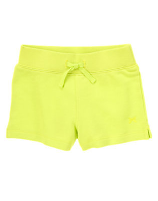 Girls Limeade French Terry Shorts by Gymboree
