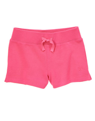 Girls Fruity Fuchsia French Terry Shorts by Gymboree