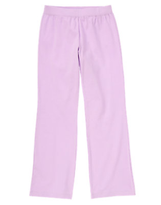 Girls Soft Orchid Flared Jersey Pants by Gymboree