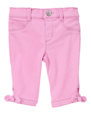 Toddler Girls Grape Sorbet Bow Capris by Gymboree