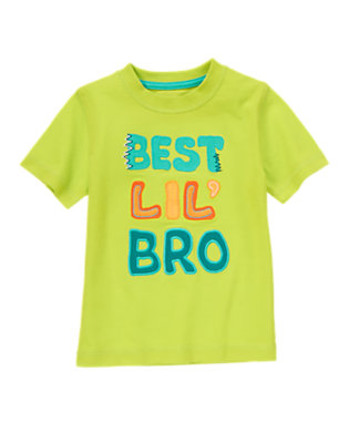Toddler Boys Leafy Lime Best Lil' Bro Tee by Gymboree