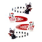 French Pets Snap Clip Four-Pack