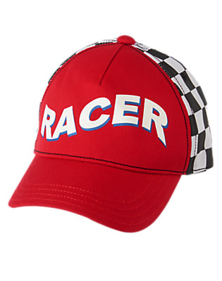 Toddler Boys Racing Red Racecar Driver Hat by Gymboree