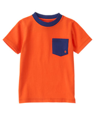 Toddler Boys Afterburner Orange Always Soft™Tee by Gymboree