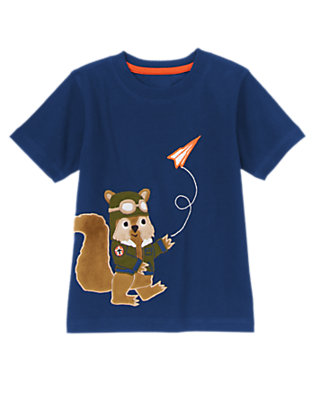 Toddler Boys Gym Navy Flying Squirrel Tee by Gymboree