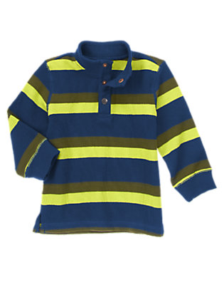 Toddler Boys Liftoff Lime Stripe Striped Pullover by Gymboree