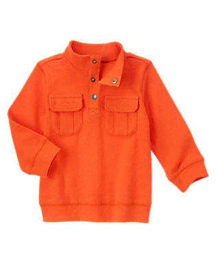 Toddler Boys Runway Red Chambray Detail Pullover by Gymboree