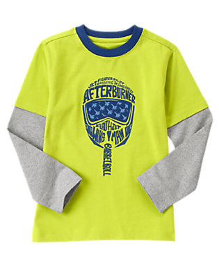 Boys Lime Liftoff Afterburner Tee by Gymboree