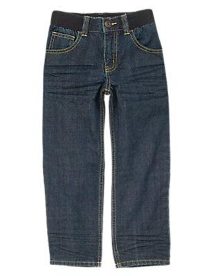 Boys Denim Ribbed Waist Jeans by Gymboree
