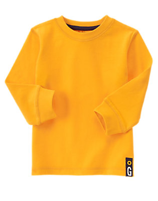 Toddler Boys Golden Goalpost Always Soft™ Long Sleeve Tee by Gymboree
