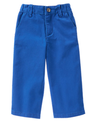 Toddler Boys Stadium Blue Chino Pants by Gymboree
