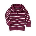 Striped Zipped Hoodie