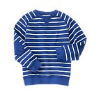 Striped Elbow Patch Pullover