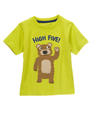 Toddler Boys Leafy Green High Five Bear Tee by Gymboree