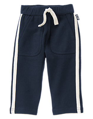 Toddler Boys Gym Navy Pull-On Fleece Pants by Gymboree