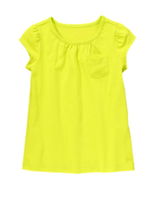 Girls Limeade Pocket Tee by Gymboree