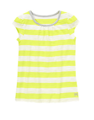 Girls Limeade Stripe Striped Tee by Gymboree