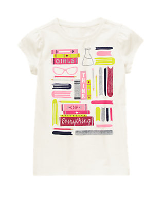 Girls White Girls Think of Everything Tee by Gymboree