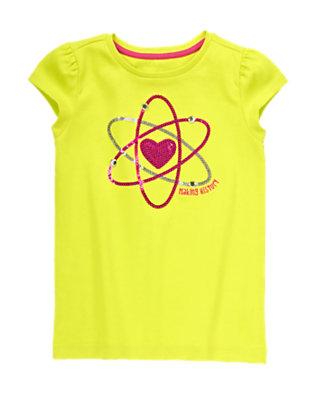 Girls Atomic Lime Making History Atom Tee by Gymboree