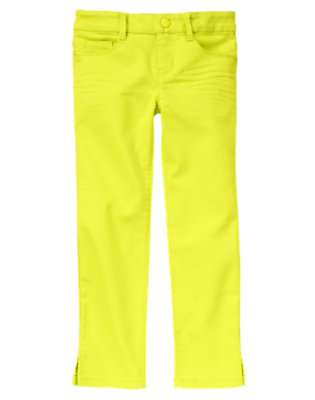 Girls Atomic Lime Colored Jeggings by Gymboree