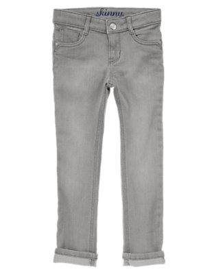 Girls Graphite Grey Grey Cuffed Skinny Jeans by Gymboree