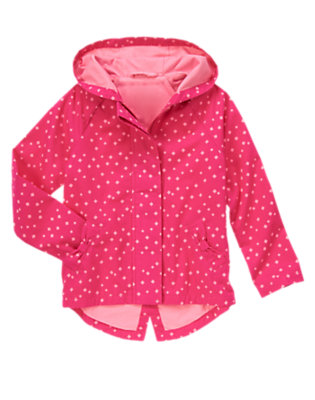 Girls Brilliant Rose Hooded Diamond Print Jacket by Gymboree