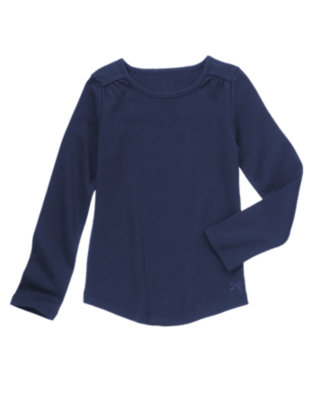 Girls Gym Navy Long Sleeve Tee by Gymboree