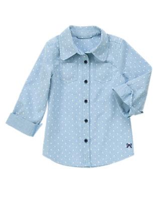 Girls Chambray Chambray Dot Shirt by Gymboree